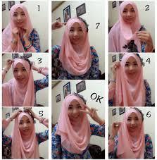 tutorial hijab pashmina tanpa dalaman ninja pakai jilbab tanpa jarum pentul dan ciput tutorial hijab