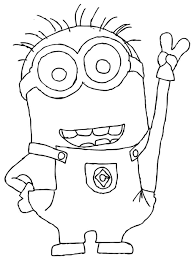 simple minion coloring pages coloring