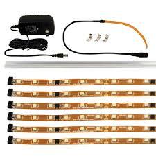 led strip lights menards jesco 6 3000k flex up led strip kit at menards