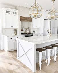 white and gold pendant light 53 best white kitchen designs natural wood flooring gold pendant