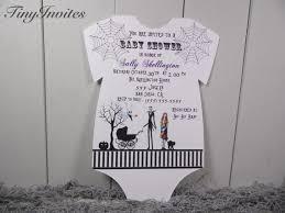 Christmas Baby Shower Invitations - nightmare before christmas baby shower invitation jack skellington