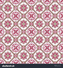 Moroccan Tile by Moroccan Tile Look Pattern Red Stock Illustration 394569490