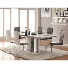 White Leather Dining Chairs Uk by Dining Rooms Amazing White Contemporary Dining Table Full Size