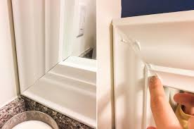 diy bathroom mirror frame stephanie messick blog