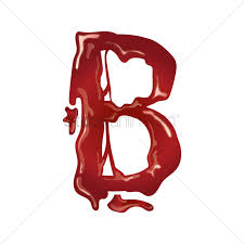 letter b with dripping blood vector image 1499398 stockunlimited