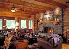 log homes interior log home living