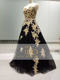 black gold lace formal evening gowns luxury off shoulder women