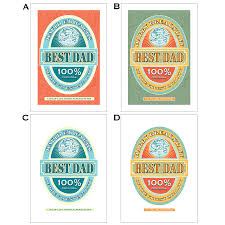 best dad beer label personalised fathers day print by just for you