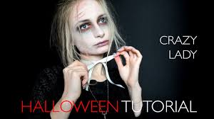 fast and easy halloween makeup tutorial crazy lady gothic