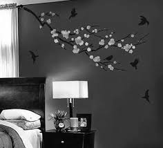 interior captivating good wall decorating ideas with black white interior captivating good wall decorating ideas with black white sakura tree wall art design on grey