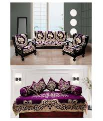 furnishing kingdom 5 seater sofa cover set with diwan set buy