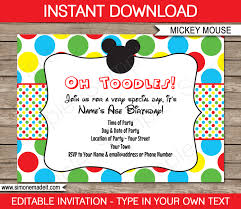 mickey mouse clubhouse birthday invitations walmart tags mickey
