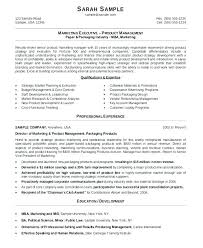 executive resume formats and exles marketing manager resume template