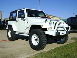 modified white jeep wrangler built jeeps