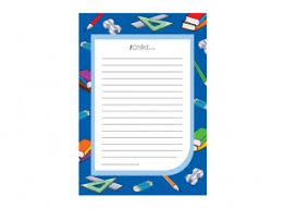 back to lined writing paper template ichild