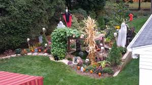 backyard halloween decorations pond design and build almost perfect landscaping