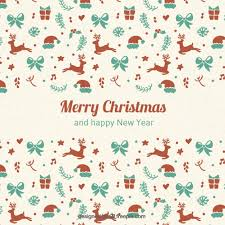 cute christmas elements background free vectors ui download
