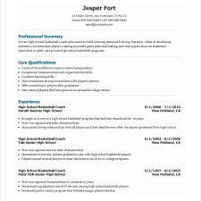 Basketball Resume Template For Player Download Basketball Coach Resume Haadyaooverbayresort Com