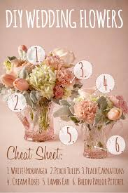 attractive diy wedding centerpieces flowers peach amp white diy