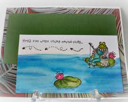 fathers day fishing card etsy