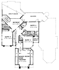 home theater floor plans mediterranean style house plan 5 beds 4 baths 4288 sq ft plan