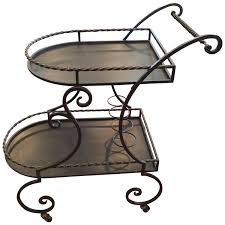 Wrought Iron Bathroom Accessories by Wrought Iron Rolling Tea Or Bar Cart For Sale At 1stdibs