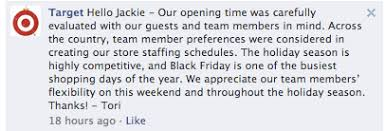 target opening time on black friday employees go social to decry thanksgiving black friday hours