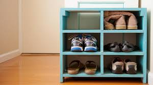 shoe racks that double as decor