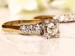 two tone gold engagement rings deco engagement ring 1 17ctw antique cut wedding