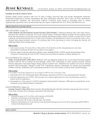 sle resume for key accounts manager roles in organization accountirector resume exles executive sle resumes yun56 co