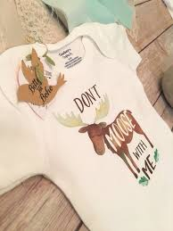 unique baby gift moose onesie baby boy clothes funny onesies