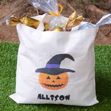 personalized trick or treat bags tote bag