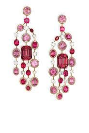 Pink Chandelier Earrings Pink Spinel And Chandelier Earrings Alain R Truong
