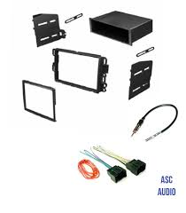 asc audio car stereo dash kit wire harness and antenna adapter