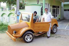 wooden car wooden car jugaad india