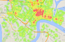 Map New Orleans A Visualization Of Crime In New Orleans U2013 Simst Im