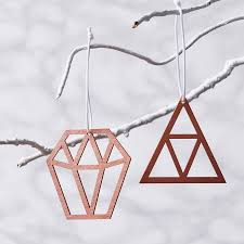 copper decorations geometric copper christmas decorations by sophia victoria joy