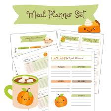 free printable fall thanksgiving meal planner family fresh meals