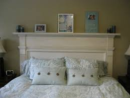 Homemade Headboards For King Size Beds by I Made An Old Fireplace Mantle Into Our Headboard In The Master