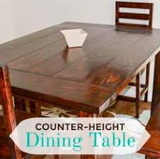 what is counter height table diy rustic counter height table plan pinteres
