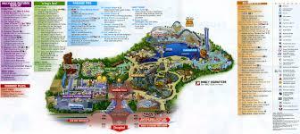 map of california adventure theme park brochures disney s california adventure theme park