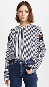 blouse button kule the wallis button blouse shopbop