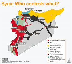 Maps Syria by Syrian Civil War Map Who Controls What News24