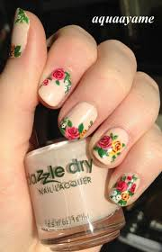 how to make a floral nail polish for spring pretty designs