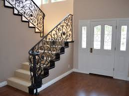 interior home redesign center wrought iron doors railings