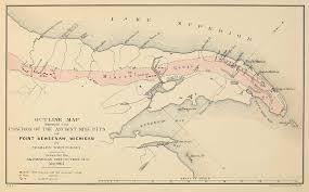 Lake Superior Map La Pointe Du Saint Esprit Chequamegon History