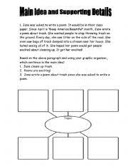english teaching worksheets identifying the main idea