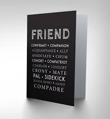 best friend pal mate chum words greetings greeting card gift