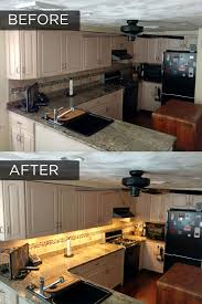 how to install lighting your kitchen cabinets 3 bar led cabinet lighting kit warm white 9