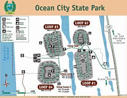 Washington State Cities Map by Ocean City State Park Map Jpg